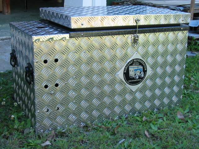 The fridge/freezer. Looks like it belongs in the back of a ute.